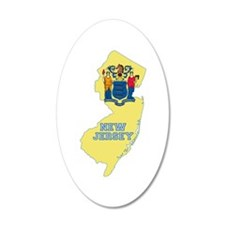 New Jersey Flag Wall Decal