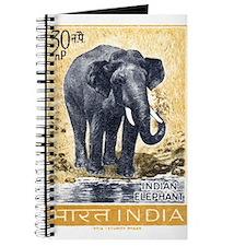 Vintage 1963 India Elephant Postage Stamp Journal