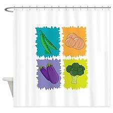 Veggies Shower Curtain