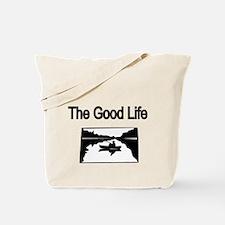 The Good Life. (fisherman on the lake) Tote Bag