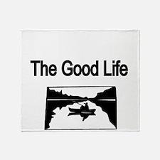 The Good Life. (fisherman on the lake) Throw Blank