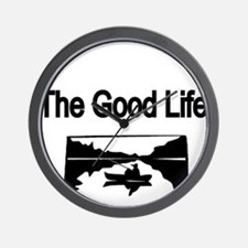 The Good Life. (fisherman on the lake) Wall Clock