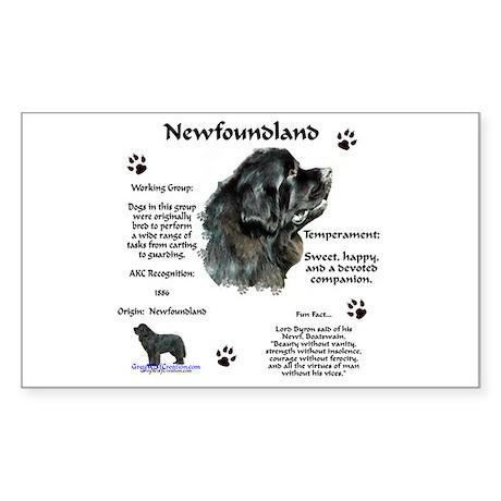Newf 1 Rectangle Sticker