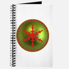 Red & Green Snowflake Journal