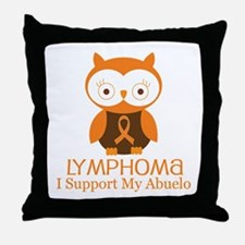 Abuelo Lymphoma Support Throw Pillow