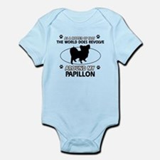 Papillon dog funny designs Infant Bodysuit