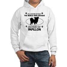 Papillon dog funny designs Hoodie