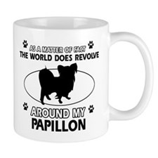 Papillon dog funny designs Mug