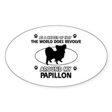 Papillon dog funny designs Decal