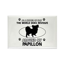 Papillon dog funny designs Rectangle Magnet