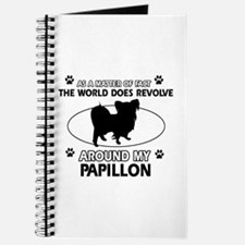 Papillon dog funny designs Journal