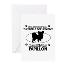 Papillon dog funny designs Greeting Cards (Pk of 1
