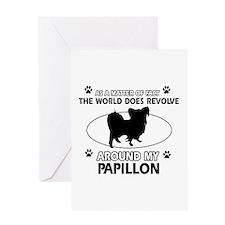 Papillon dog funny designs Greeting Card