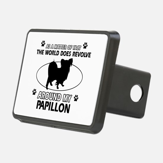 Papillon dog funny designs Hitch Cover