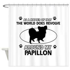 Papillon dog funny designs Shower Curtain