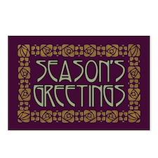 Art Nouveau Season's Greetings Postcards (8)