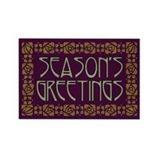 Art Nouveau Season's Greetings Rectangle Magnet