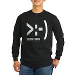 Online Devil Smiley Face Long Sleeve Dark T-Shirt