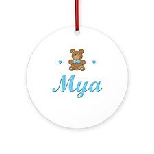 Blue Teddy - Mya Ornament (Round)