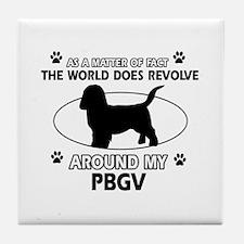 PBGV dog funny designs Tile Coaster