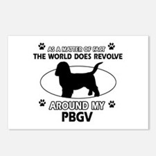 PBGV dog funny designs Postcards (Package of 8)