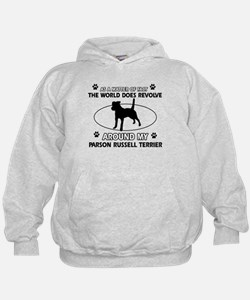 Parson Russell Terrier dog funny designs Hoodie