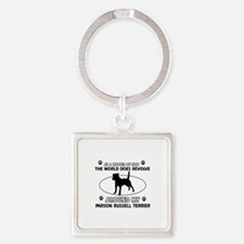 Parson Russell Terrier dog funny designs Square Ke