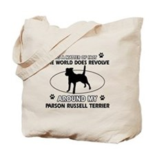 Parson Russell Terrier dog funny designs Tote Bag
