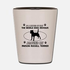 Parson Russell Terrier dog funny designs Shot Glas