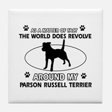Parson Russell Terrier dog funny designs Tile Coas