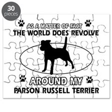 Parson Russell Terrier dog funny designs Puzzle