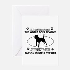 Parson Russell Terrier dog funny designs Greeting