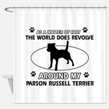 Parson Russell Terrier dog funny designs Shower Cu