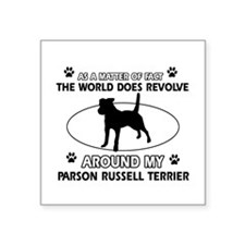 Parson Russell Terrier dog funny designs Square St