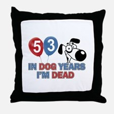 53 year old gift ideas Throw Pillow