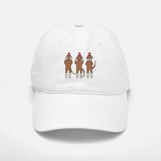 Three Monkeys Baseball Baseball Baseball Cap