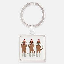 Three Monkeys Keychains