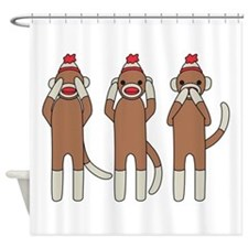 Three Monkeys Shower Curtain