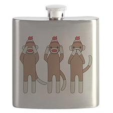 Three Monkeys Flask