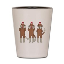Three Monkeys Shot Glass
