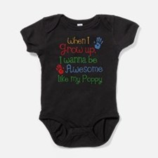 Awesome Like My Poppy Baby Bodysuit