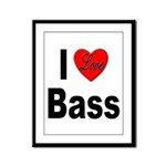 I Love Bass Framed Panel Print