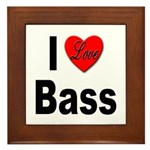 I Love Bass Framed Tile