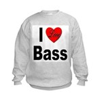 I Love Bass Kids Sweatshirt