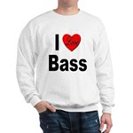 I Love Bass (Front) Sweatshirt