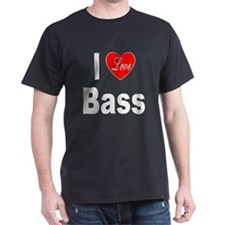 I Love Bass (Front) T-Shirt
