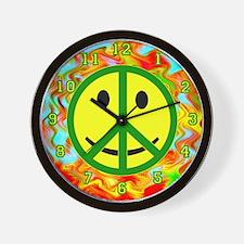 Smiley Peace Wall Clock
