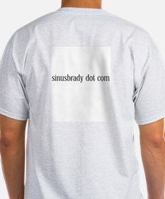SiNuS BRaDy Internet Ash Grey T-Shirt