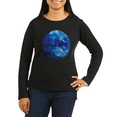 Celtic Knotwork Blue Moon Women's Long Sleeve Dark