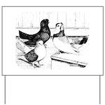 Koros Tumbler Pigeons Yard Sign